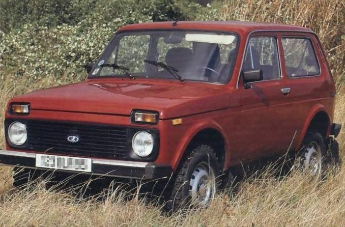 Red Lada Niva 4x4 truck
