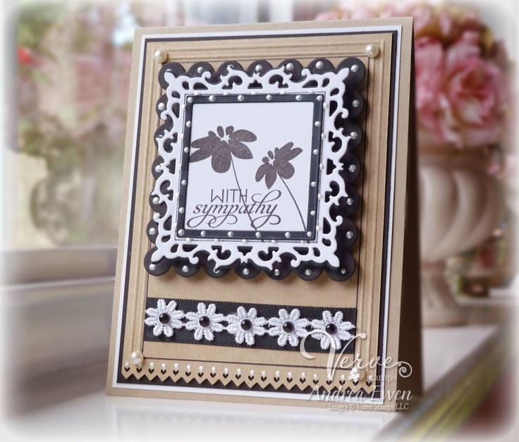 EwenStyle: Verve: Cards Flowers, Andrea Ewen, Cards Ideas, Sympathy Cards, Crafts Fun, Ewenstyl Cards, Cards Sympathy, Paper Crafts, Cards Sketch