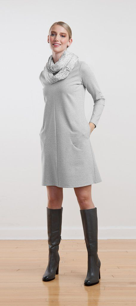 A-line ponte dress with pockets is stylish enough for the office but comfortable enough for the weekend