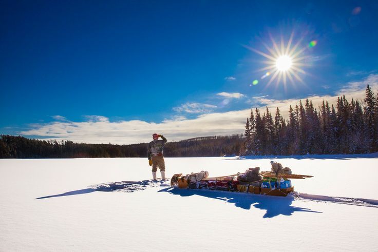 Winter landscape northern ontario. Sun rises over the Arctic Watershed #DiscoverOntario