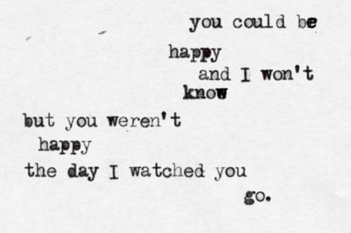 you could be happy