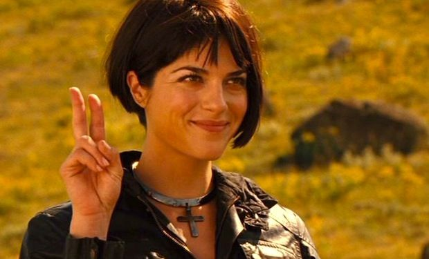 Selma Blair in the role of Liz Sherman for the 2008 film Hellboy II