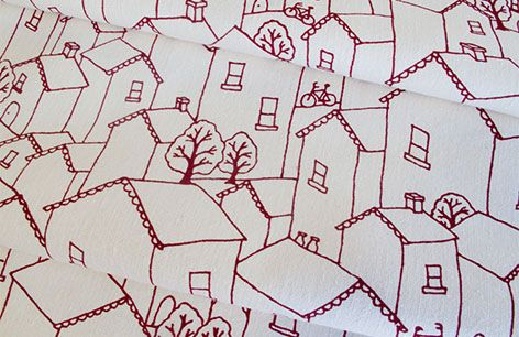 I love this fun quirky fabric designed by Ink & Spindle. Available at Vida Textiles.