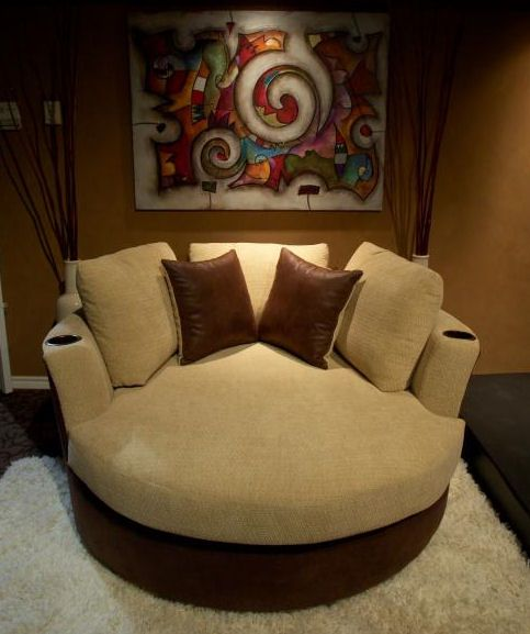 Just one seating idea for my theater room!