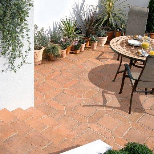 Bradstone, Tile Paving Mellow Terracotta 300 x 300 - 96 Per Pack - Premium Manufactured - Paving