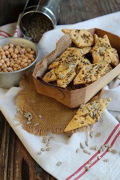 Crackers aux graines à la farine de pois-chiche sans gluten #vegan