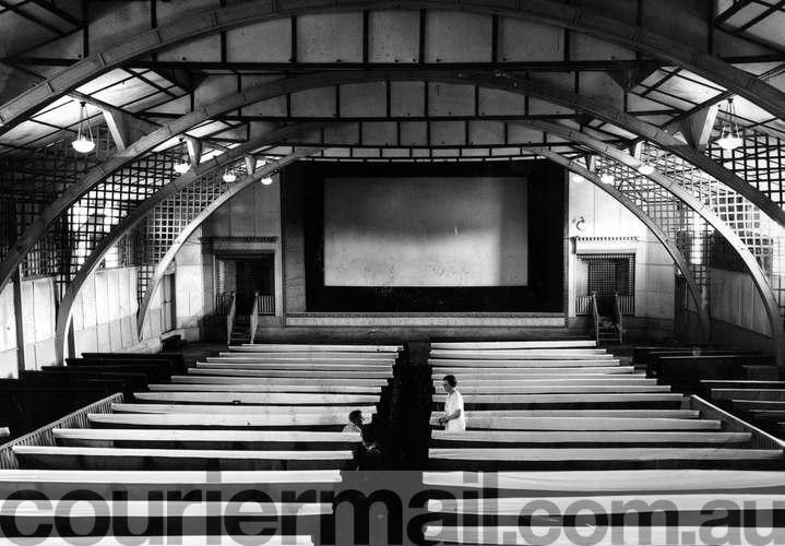 Interior Imperial Theatre Wynnum. Scanned from print www.waywewere.couriermail.com.au
