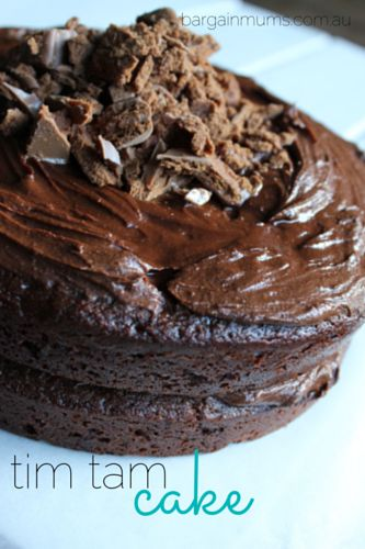 This Tim Tam Cake is perfect in every way, you won't be able to resist going back for a..