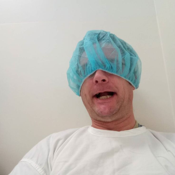 This hospital hair net thing is too big #funny #personal #hospital #operation