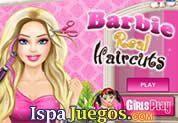 Juego de Barbie Real Haircuts | JUEGOS GRATIS:  Barbie amanecio con los cabellos de punta, ayuda a restablecer y darle el mejor tratamiento de cabello que puedas, podras hacer de todo siempre y cuando luzca genial.