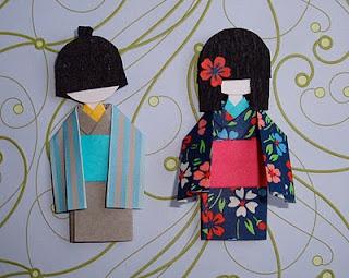 Blog que te enseña a hacer washi ningyo o muñecas japonesas de papel. Imprescindible