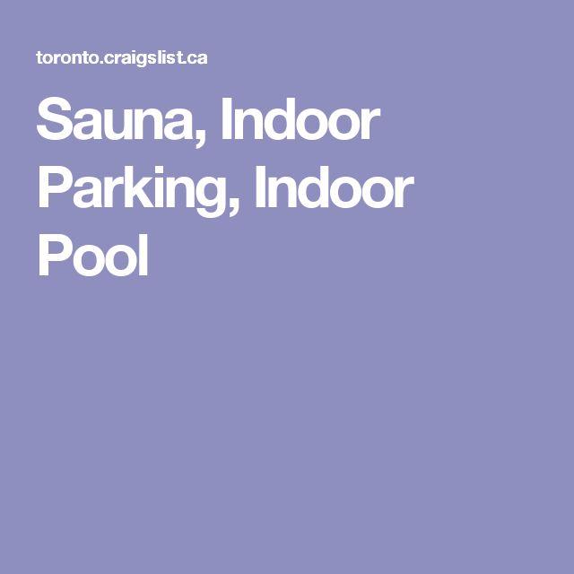 Sauna, Indoor Parking, Indoor Pool