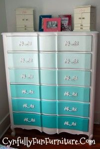Ombre Style French Provincial Dresser - Cynfully Fun Furniture