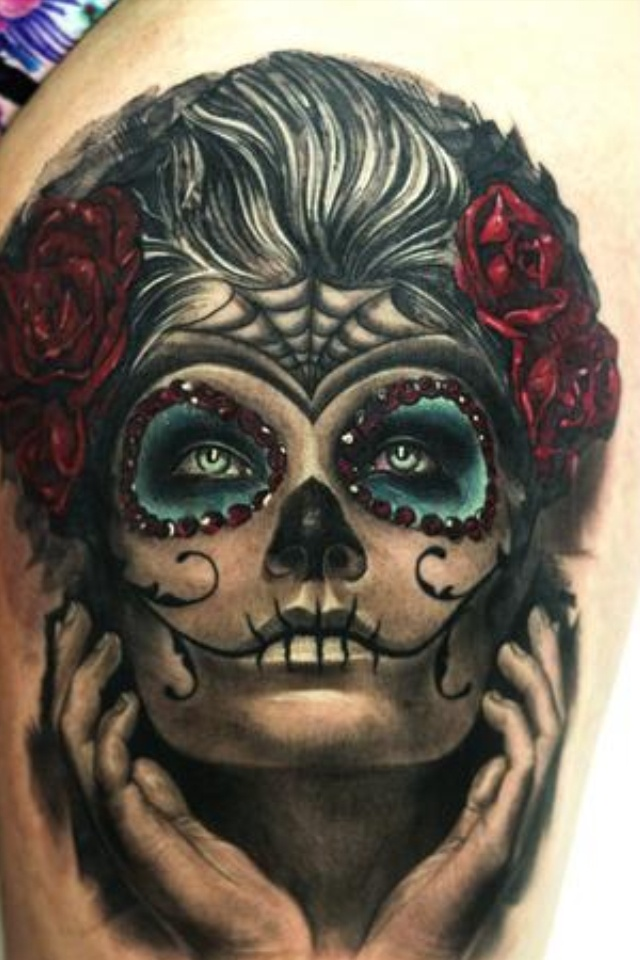 amazing la catrina tattoo la catrina pinterest la catrina as and tattoos and body art. Black Bedroom Furniture Sets. Home Design Ideas
