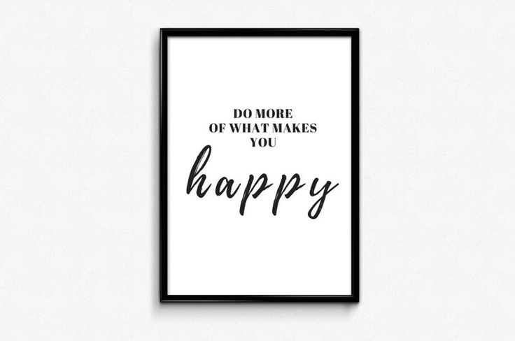"Plakat A3 ""Do more of what makes you happy"" czarny - Posters-Monster - Wydruki cyfrowe"