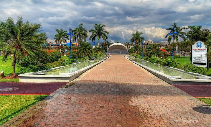 Emancipation Park, Kingston, Jamaica.