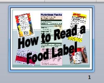 Food Label Scavenger Hunt Lesson: Worksheet + 42 Food Labels to Read