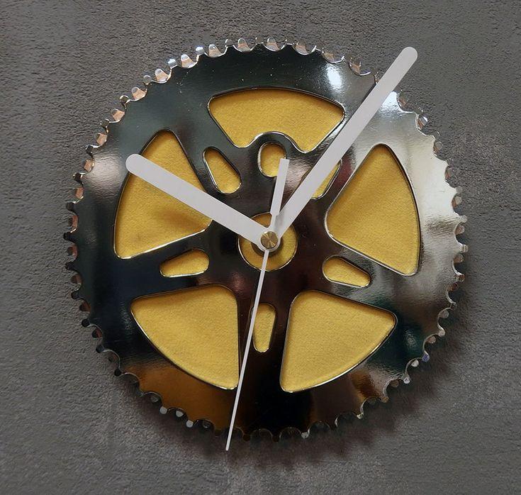 Wall bike clock Sun by BikesBazaar on Etsy