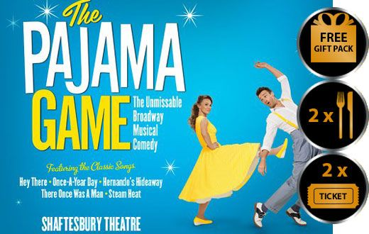PAJAMA GAME THEATRE VOUCHER SHOW AND DINNER FOR TWO THEATRE VOUCHER GIFT PACKAGE Pajama Game is a joyous musical comedy and has been a huge hit on