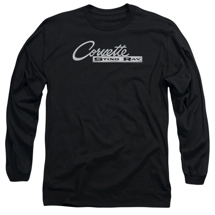 Chevrolet - Corvette Chrome Sting Ray Logo Long Sleeve Adult 18/1