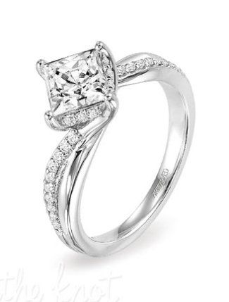 8 Favorite Princess Cut Diamond Engagement Rings - The Knot Blog