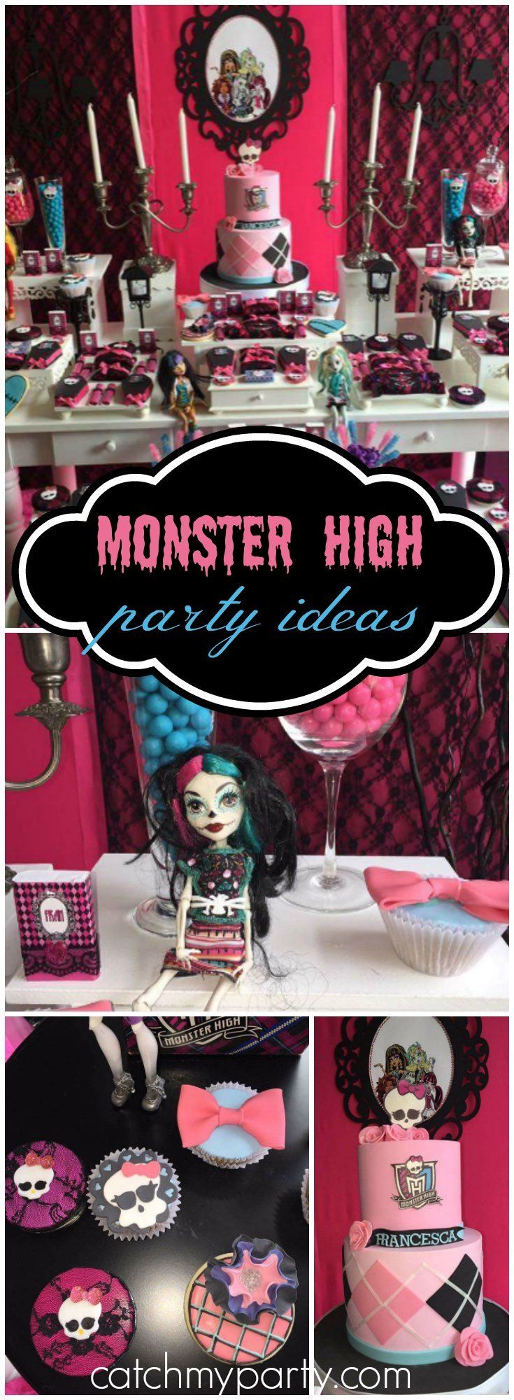 You have to see this awesome Monster High birthday party! See more party ideas at Catchmyparty.com!