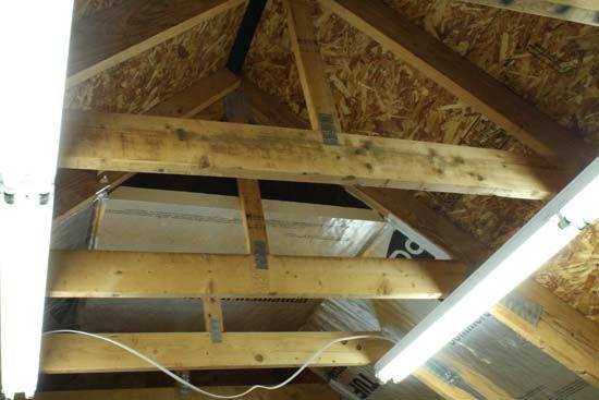 Best 25 attic truss ideas on pinterest garage attic for Alternatives to spray foam insulation