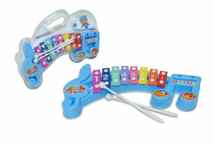 Xilofono #Pocoyó,  de colores y reconocimiento de números, incluye baquetas.  Los niños podrán desarrollar sus primeras habilidades musicales y reforzarán la coordinación