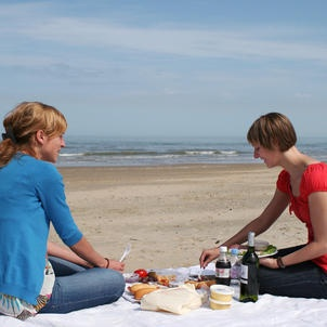 Picknick op het strand in Middelkerke (BE)