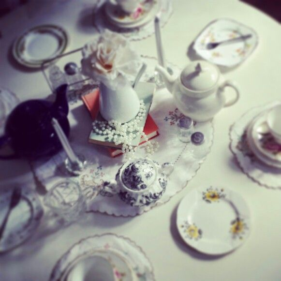 Afternoon tea set up. www.butterflyivy.weebly.com