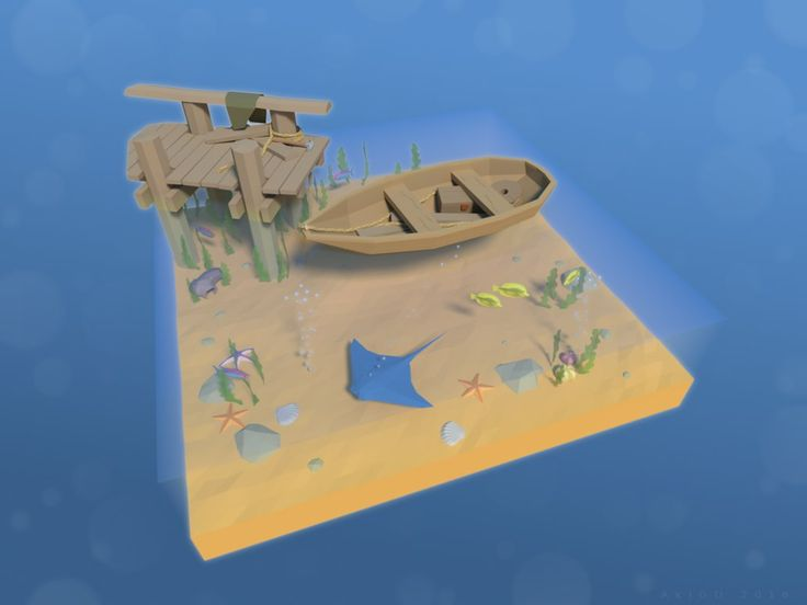 Sea Stuff [Low-Poly] by AkiGD