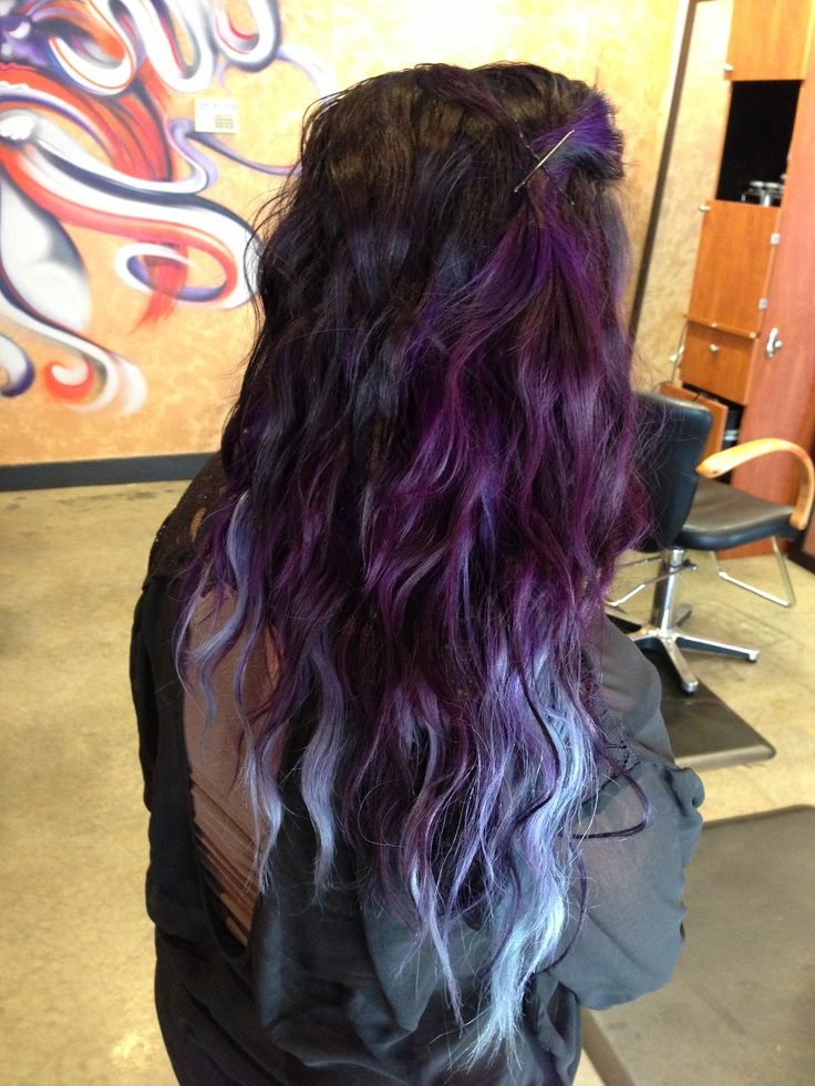 purple to silver blue ombre hair pinterest ombre