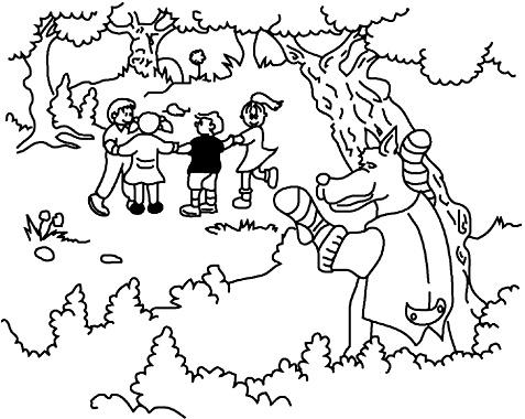 """El lobo    Normalmente se juega entre varios niños, eligen a uno que será el lobo y los demás hacen una rueda y agarrados de la mano cantan """"Jugaremos en el bosque mientras el lobo no está, porque si el lobo aparece a todos nos comerá, lobo ¿estás ahí?"""" y el lobo contesta """"no, estoy ........."""" y escoge aluna actividad (durmiendo, lavandome los dientes, etc.) cuando dice que sí, los niños corren y el lobo los persigue hasta que alcanza a uno el cual será el lobo."""