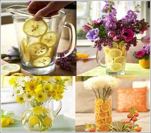 Make a Beauteous Citrus Fruits and Floral Centerpiece.