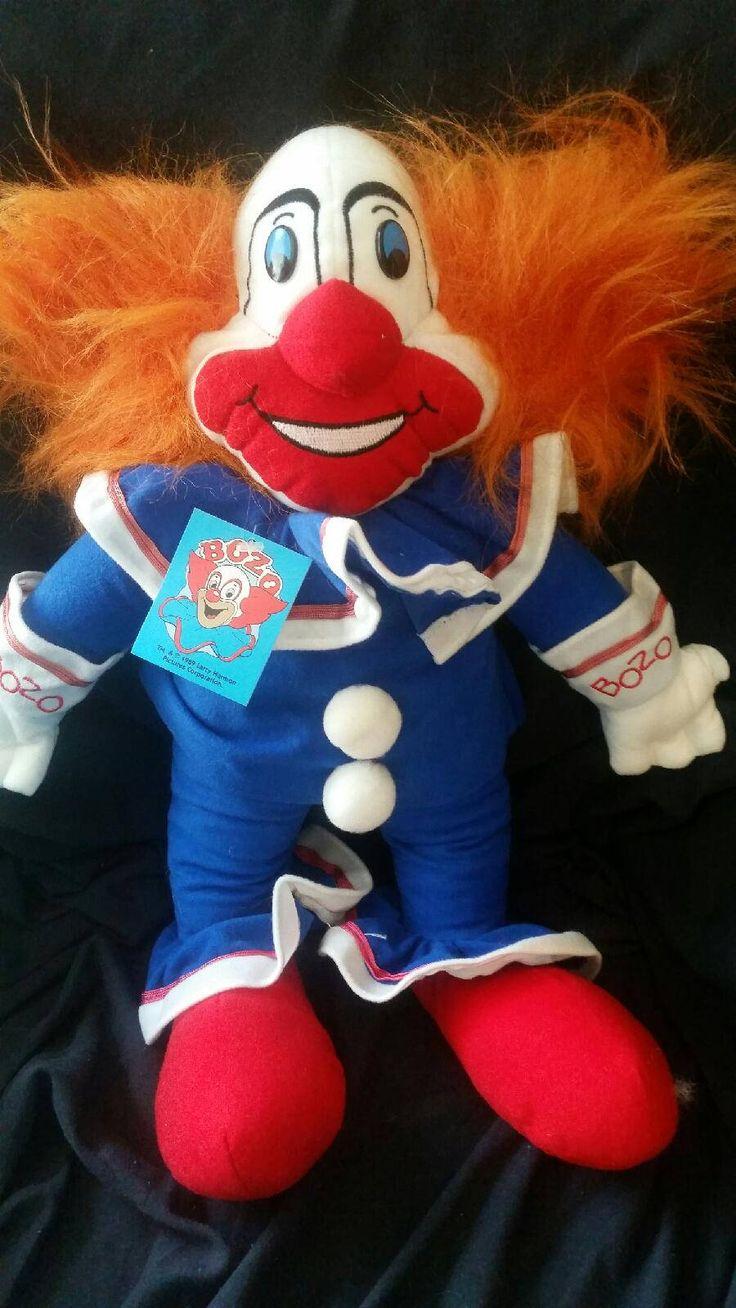 Vintage,Bozo the Clown, Original WGN dolls 1989, Larry Harmon, Bozo 18 in Plush by GiuseppinaStudio on Etsy