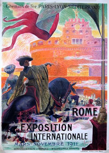 Rome Exposition Internationale poster by Georges Rochegrosse, 1911