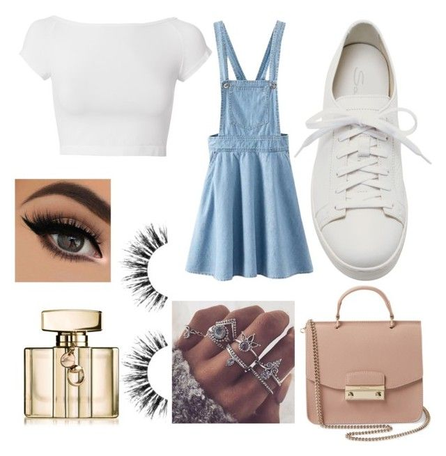 """""""Do you like this One?"""" by alice12 on Polyvore featuring Helmut Lang, Santoni, Furla, Gucci and Velour Lashes"""