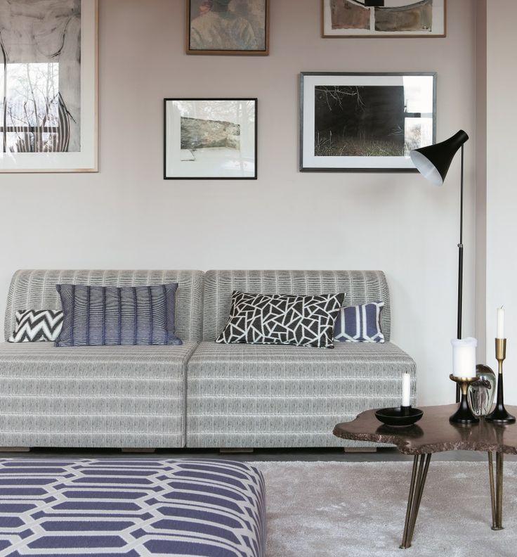 PRISMA de Saum! La geometria de la tapisseria? #geometric #ontariofabrics #natur #blue