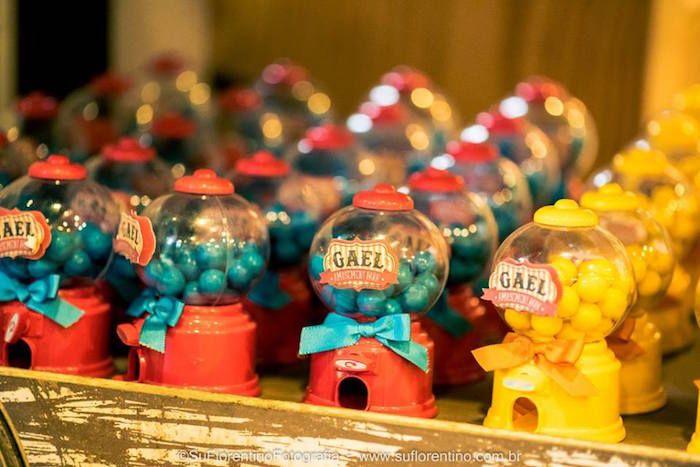 Gumball Machine Favors from a Vintage Carnival + Amusement Park Party via Kara's Party Ideas | KarasPartyIdeas.com (15)