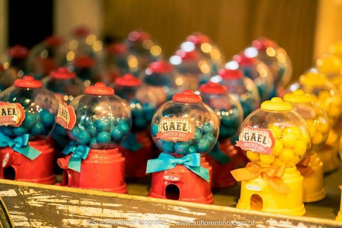 Gumball Machine Favors from a Vintage Carnival + Amusement Park Party via Kara's Party Ideas | KarasPartyIdeas.com (15)