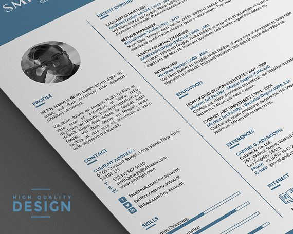 102 best Unique and Clean Resume Template images on Pinterest - clean resume templates