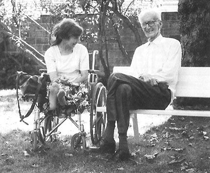 Jozef Czapski con Joanna Pollak, Maison-Laffitte, 1987