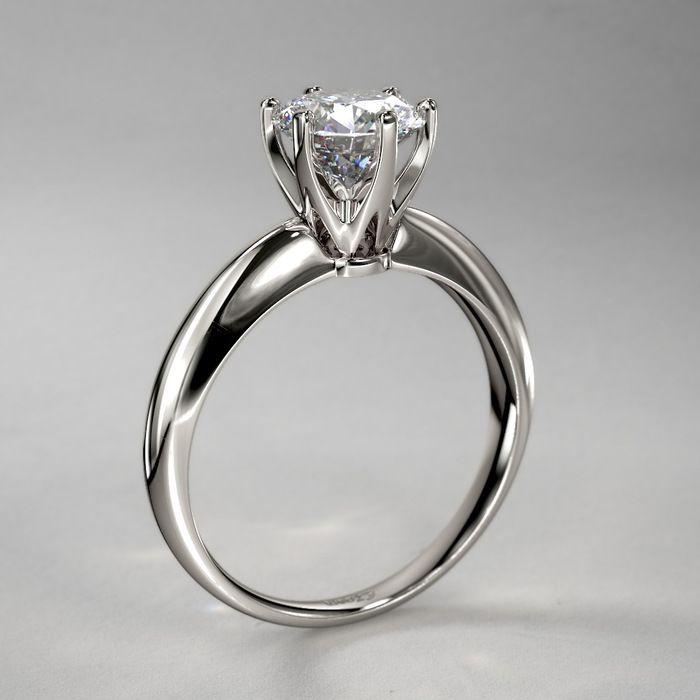 Classic Venus Diamond Engagement Ring in 14k White Gold