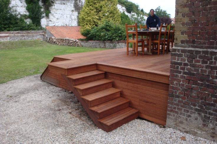 escalier terrasse escaliers bois pinterest. Black Bedroom Furniture Sets. Home Design Ideas