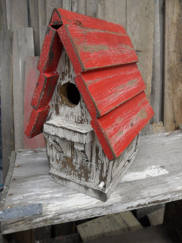 Antique Birdhouse, Victorian Birdhouse, Vintage Birdhouse, Rustic, Functional Birdhouse, Shabby Chic, Primitive Birdhouse. $45.00, via Etsy.