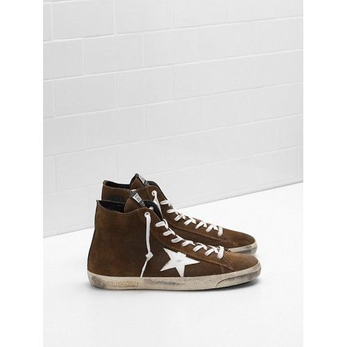 Billig Golden Goose DB Francy Herren Sneakers Braun