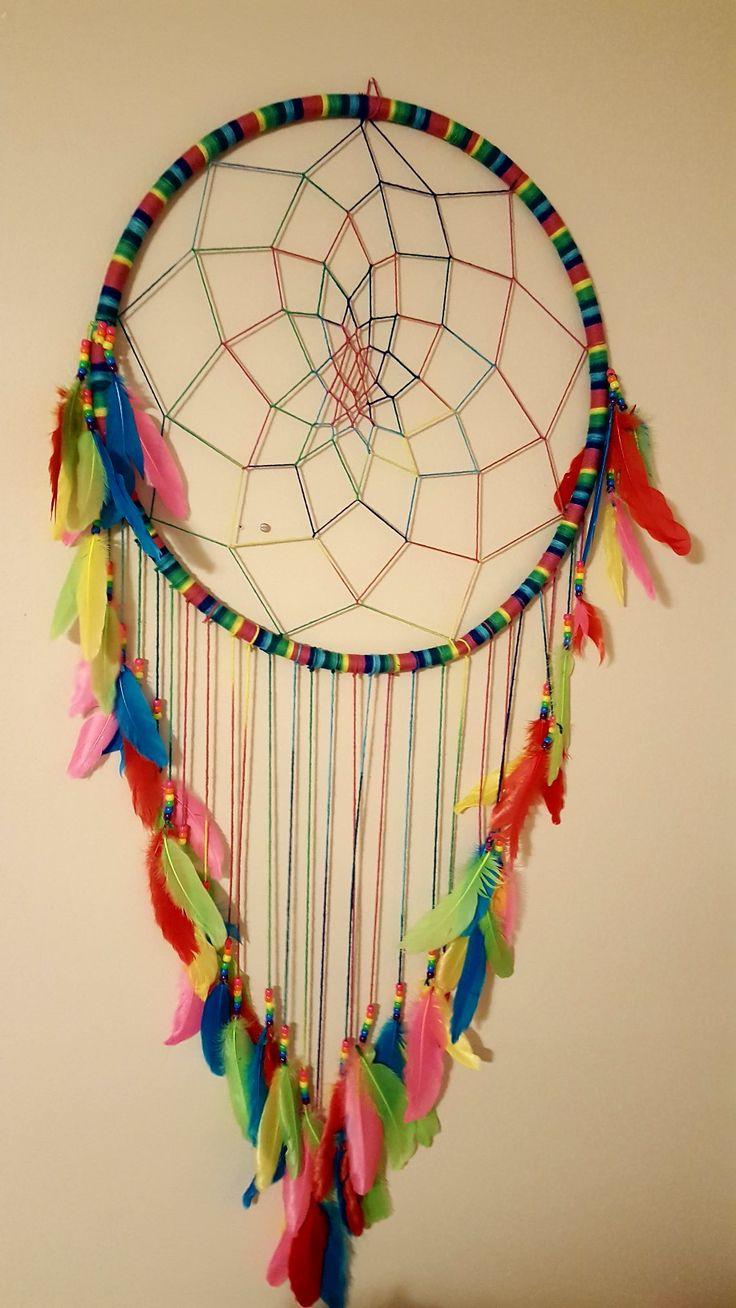 Dream catcher made from hula hoop
