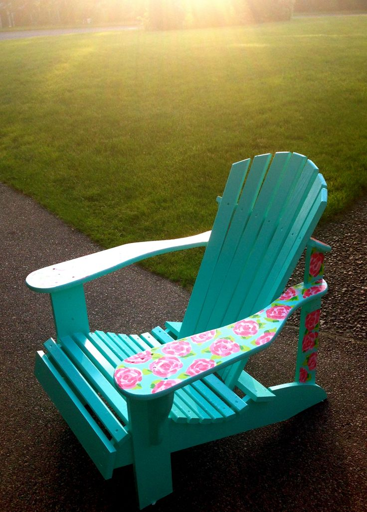 Lilly Pulitzer Patterned Adirondack Chair