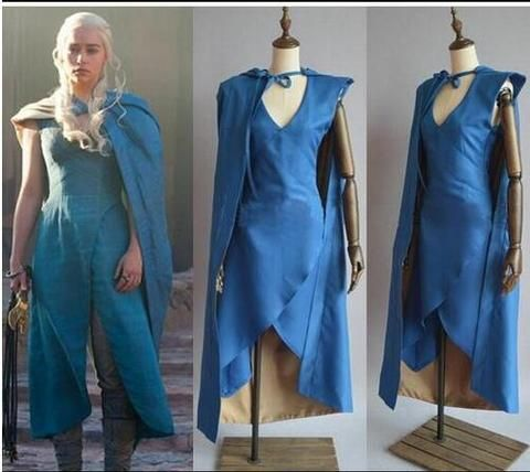Vestido com Capa Game of Thrones Daenerys Targaryen