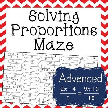 Solving Proportions With Variables On Both Sides Worksheet